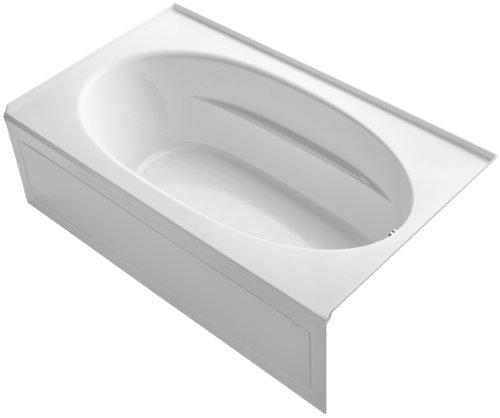 Windward Acrylic White (KOHLER K-1115-RA-0 Windward 6-Foot Bath with Integral Apron, White)
