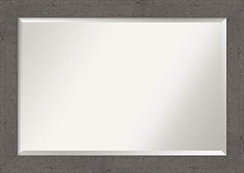 Amanti Art Framed Vanity Mirror | Bathroom Mirrors for Wall | Rustic -
