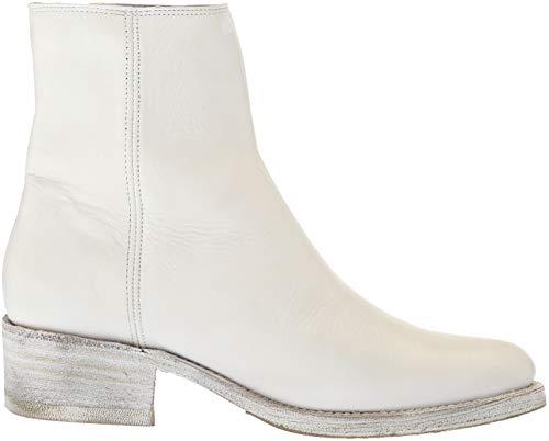 Frye Boot Demi Zip Bootie Ankle Women's White 1ap1qZ6x