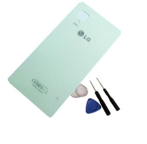 New Original Back Battery door cover glass for LG Optimus G E975 White