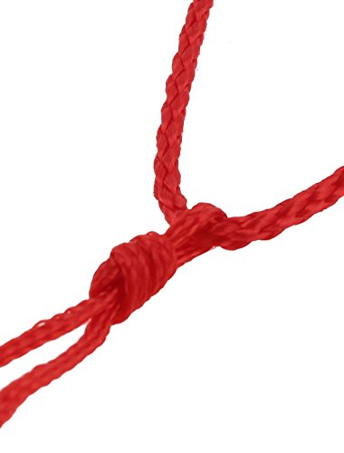 100 x Red Nylon Pull String Closure Adjustable Braided Necklace Strap by uxcell (Image #1)