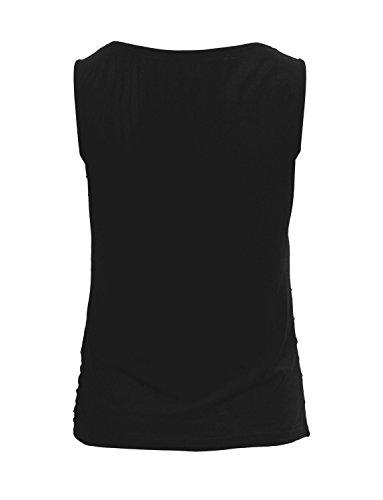 Ma Coquette - Camiseta - ajustado - Sin mangas - para mujer negro