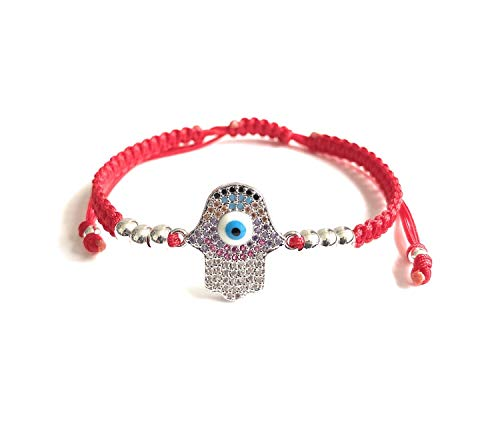 Evil Eye Hamsa Hand Red String Bracelet for Women