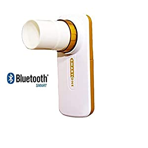Bluetooth Peak Flow FEV1 Lung Function and Airways Monitor with Activ8rlives4 App – Asthma, COPD, Cystic Fibrosis, Bronchiectasis and Non-invasive Tracking of Lung Performance