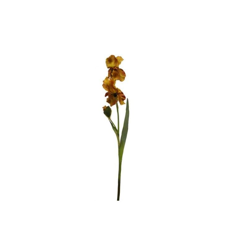 silk flower arrangements renaissance 2000 decorative gold and brown beard iris with 2 large flower spray