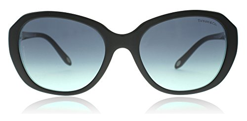 Tiffany TF4108B 81939S Black / Striped Blue TF4108B Butterfly Sunglasses Lens - Tiffany Butterfly Sunglasses