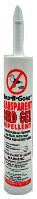 Bird-B-Gone MMTBG 10 oz Transparent Bird Repellent Gel Tube Quantity 24 by Bird B Gone