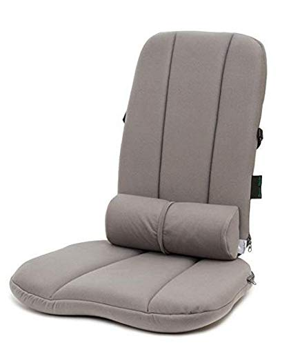 BETTERBACK Deluxe Back Care System-Provides Lumbar Support & Reduces Back, Hip, Tailbone, Coccyx & Sciatica Pain-Made from Foam-Ergonomic Design Helps Improve Posture to Prevent Slouching ()
