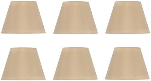 Upgradelights Set of Six Shades That are 6 Inch European Drum Style Chandelier Lamp Shade Mini Shade Antique Gold Color ui10