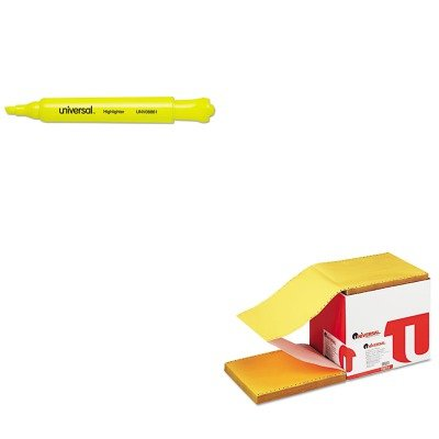 KITUNV08861UNV15874 - Value Kit - Universal Multicolor Paper (UNV15874) and Universal Desk Highlighter (UNV08861) by Universal