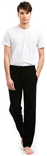 Men's Lounge Pants - 100% Cashmere - Citizen Cashmere (Black M) (72 701-02-02) (Ski Urban Pants)