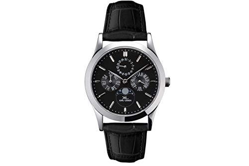 KARL-LEIMON Japanese Moonphase Watch Classic Pioneer Black