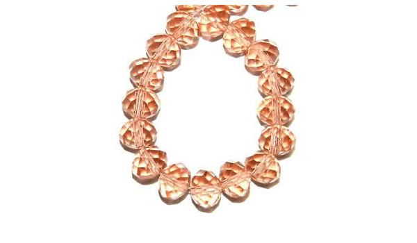 """CR626 Metallic Bronze 10mm Rondelle Faceted Cut Crystal Glass Beads 22/"""""""