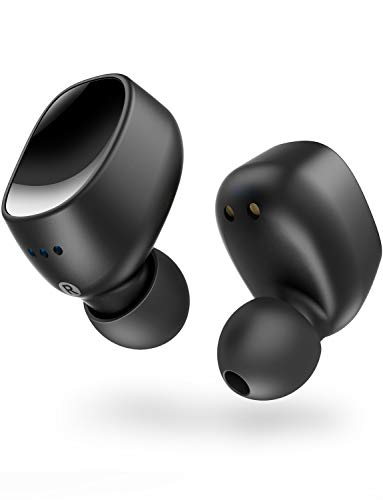 Wireless Earbuds Bluetooth Earbuds V5.0 with Solid Connection and Powerful Sound. Feature 16 Hours Play Time, IPX7 Waterproof, Built-in mic. Easy to Pair Tech. Quick Access to Siri or Bixby.