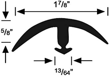 5 Pieces Roppe Super Snap Down Edge Profile #179 Black 5//8 H X 12 L X 1-7//8 W