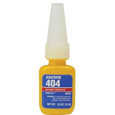 404TM Quick SetTM Instant Adhesive - 1/3-oz quick set 404industrial adhesive