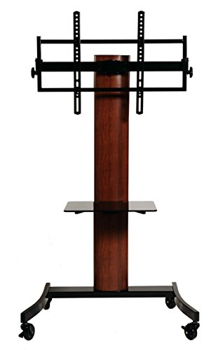 TransDeco TV Stand/Cart Flat Panel Mounting System for up to 75 inch TD593DB, Dark - Oaks Mall
