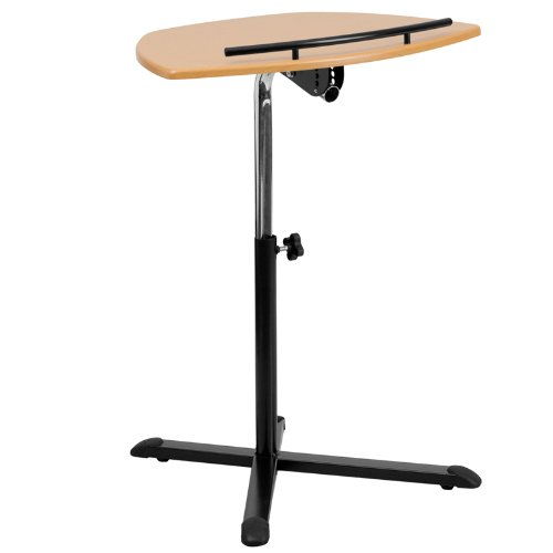 Millston Height Adjustable Natural Laptop Home/Office Computer Desk by iHome Studio