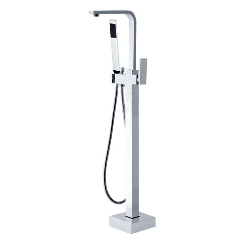 LightInTheBox Solid Brass Modern Floor Standing Tub Shower Faucet with Hand Shower chic