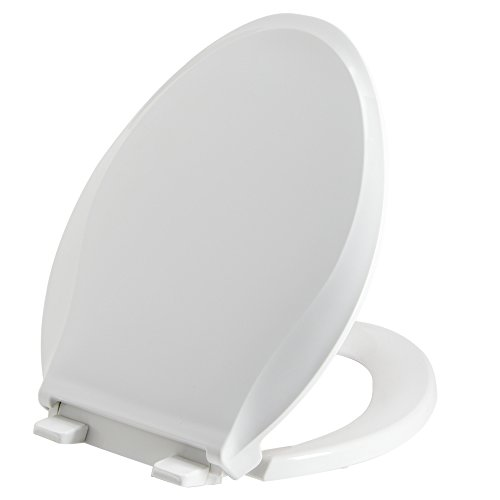 Park Ridge TSEW1418SC Elongated-Front Slo-Close Quick-Release Sure Grip Toilet Seat, White (Closing Quiet Elongated Seat)