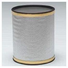 (Redmon Bath Jewelry Diamond Pattern Wastebasket, Silver/Gold )