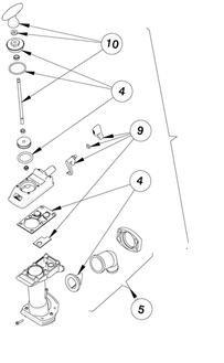 (Johnson Pump 3001.5503 81-47239-01 Manual Toilet Pump Assembly)