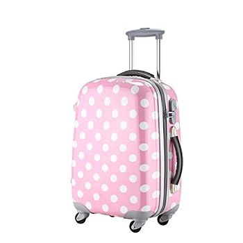 Image of Ambassador Luggage Polka Dot Print Style Luggage Travel Spinner Suitcase Luggage