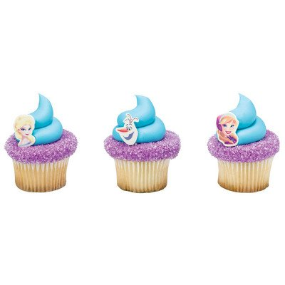 Amazoncom Frozen Cupcake Toppers 12 Count Kitchen Dining