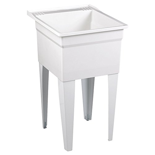 Cast Iron Service Sink - American Standard FL7100 Fiat Showers Molded Stone Appliance Depth Laundry Tub, White
