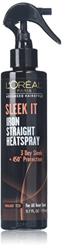 L'Oréal Paris Advanced Hairstyle SLEEK IT Iron Straight Heatspray, 5.7 fl. oz. (Products That Protect Hair From Heat Damage)