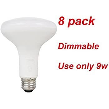 Sylvania LED 65 Watt Replacement 8 Pack Light Bubls Uses 9 Watts