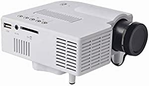 Mini 3D LED  Full HD Projector  Home Theater by UNIC, White, UC28