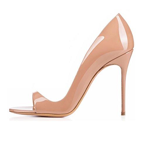 EDEFS - Zapatos con tacón Mujer Beige