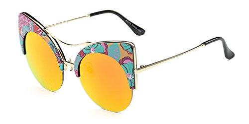 Slocyclub Women Cateye Browline Round Shape - Red Lens Sunglasses Ebay
