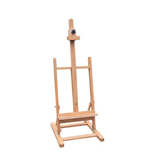 (Flashing Beech Table-top Easel, Sketch Oil Easel, 82~117 cm Wooden Display Rack, Drawing Board, Wood Color)