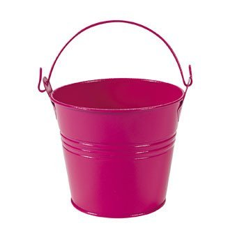 Hot Pink Pails With Handles - Party Decorations & Pails & Baskets (Pink Pail)
