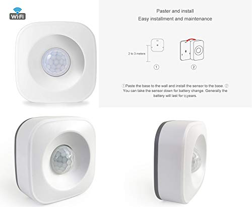 Amazon.com: WiFi PIR Motion Sensor for Home Office Security Alarm Compatible with Alexa Google Home: Home Improvement