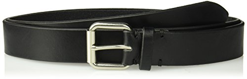 Dockers Men's 100% Leather Bridle Belt with Roller Buckle \-black, ()