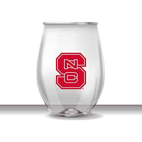 JAYMAC North Carolina State Stemless Shatterproof Heavy Duty Wine Beverage Glass Set of (North Carolina Wine)