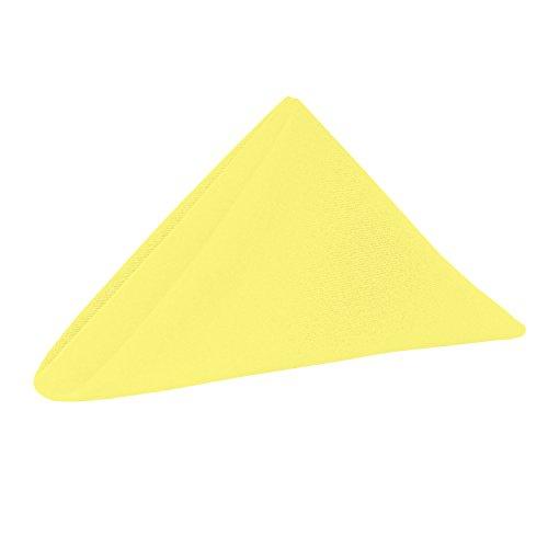 Lemon Dinner - Ultimate Textile -2 Dozen- Cotton-Feel 20 x 20-Inch Cloth Dinner Napkins, Lemon Yellow
