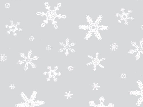 Christmas Print Cello Rolls - 40'' x100' Snowflakes Cello Roll 1.0 mil (2 Rolls) - WRAPS-CR40SF by Miller Supply Inc