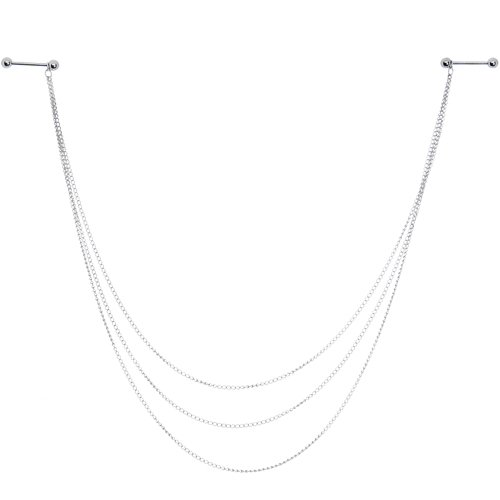 Body Candy Handcrafted Three Strand Nipple Chain