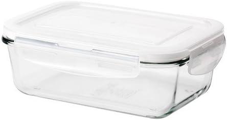 IKEA FORTROLIG - Tarro con tapa, 13 x 19 x 7 cm - cristal: Amazon.es: Hogar