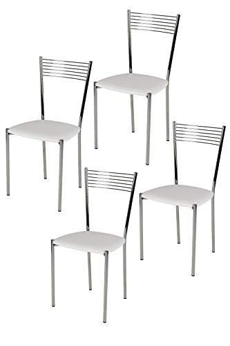 Sedie Da Cucina In Acciaio.Tommychairs Set 4 Sedie Moderne E Di Design Elegance Per Cucina