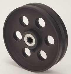 Industrial Grade 1NWG6 Caster Wheel, V Groove, 10 In, 3000 Lb