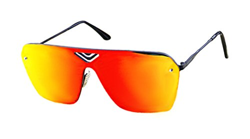 GAMT Fashion Mirrored TV Style Sunglasses Metal Frame - Can Sunglasses You Online Prescription Buy