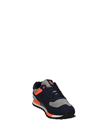 Polo Sport Ralph Lauren Slaton Pony Hombre Zapatillas Negro azul/naranja