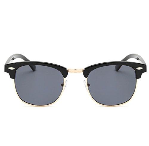 De QQBL Metal Gray Retro Hombre Trend UV400 TAC Sol Polarizadas Lady Red Plástico Gafas rXqrz