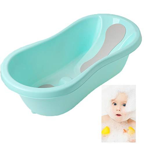 ACLBB 2 in 1 Baby Shower Basin, PP Newborn Bath Chair, Safety Non-Slip Child Bathtub, Suitable for 0-36 Months Baby, Blue, - Newborn Powder Baby Duck