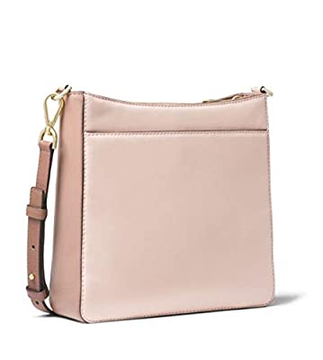 MICHAEL Michael Kors Gloria Tri-Color Leather Messenger in Soft Pink/Fawn